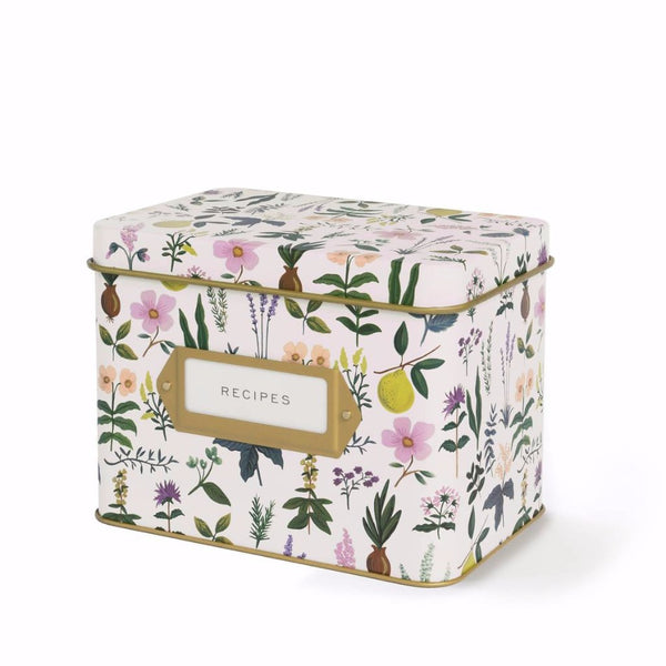 Herb Garden Recipe Tin