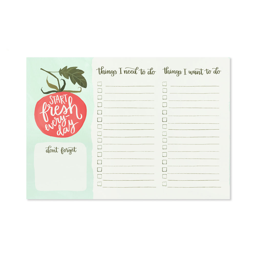 Tomato Notepad - Northlight Homestore