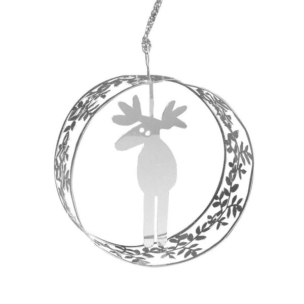 Moose Round Hanging Decoration