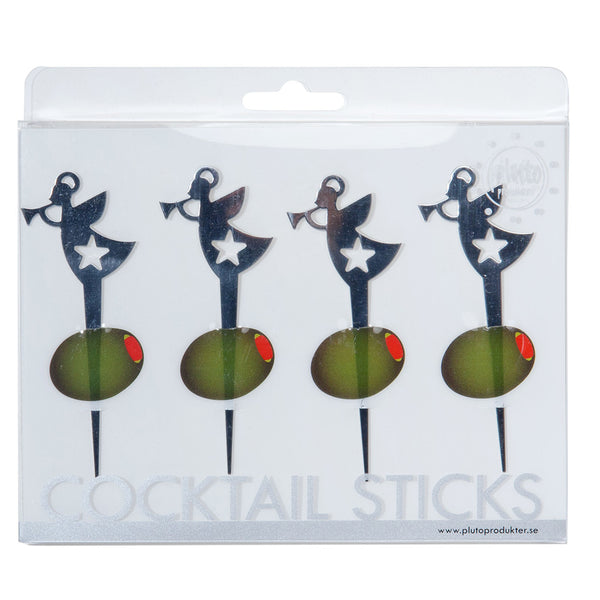 Trumpet Angel Cocktail Sticks - Northlight Homestore