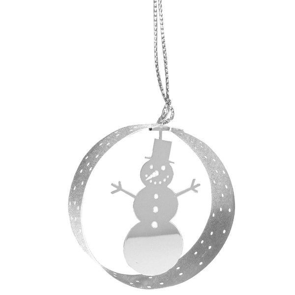 Snowman Round Hanging Decoration