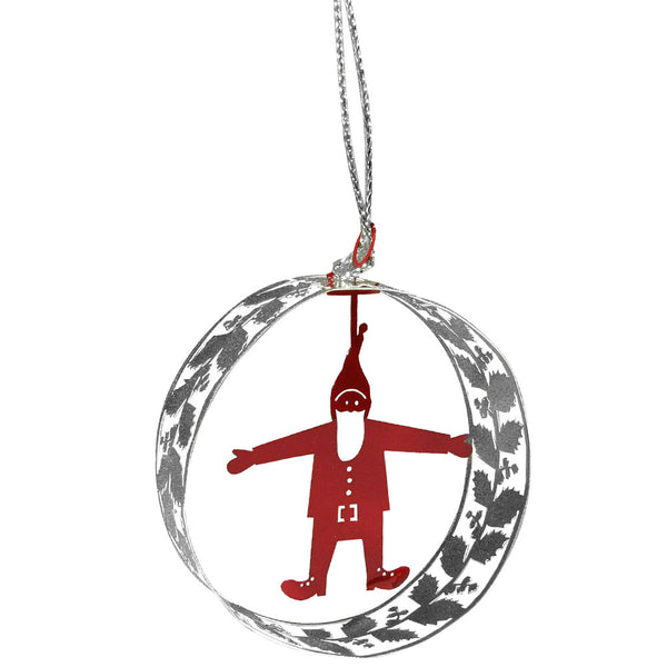 Santa Round Hanging Decoration