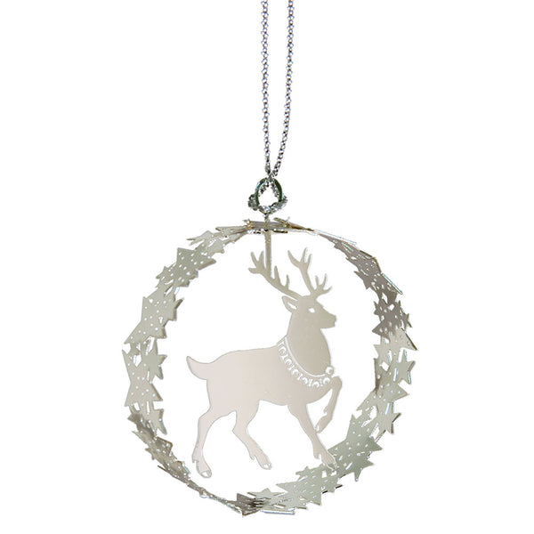 Raindeer Round Hanging Decoration
