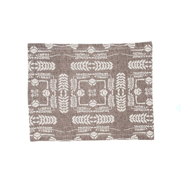 Dhurrie Dhurrie Durry Grey Place Mat