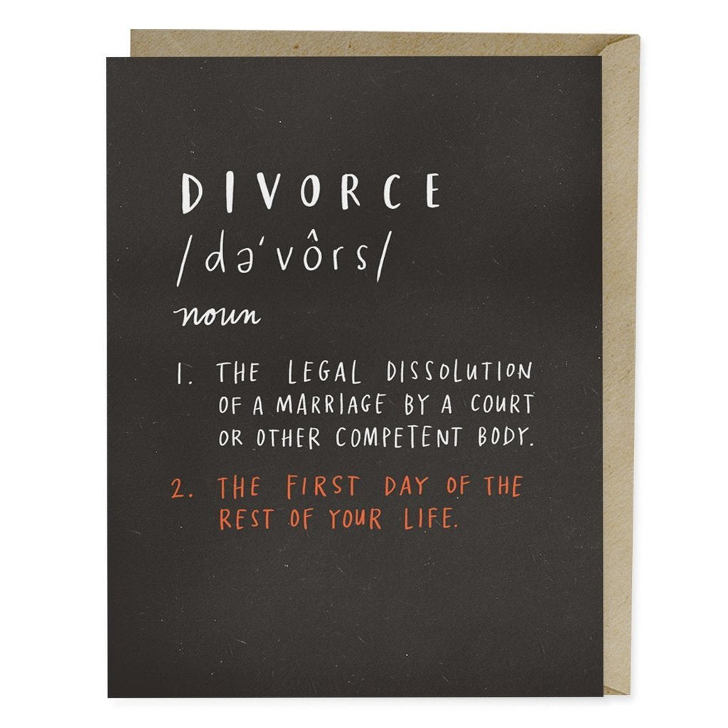 Definition of Divorce Card - Northlight Homestore