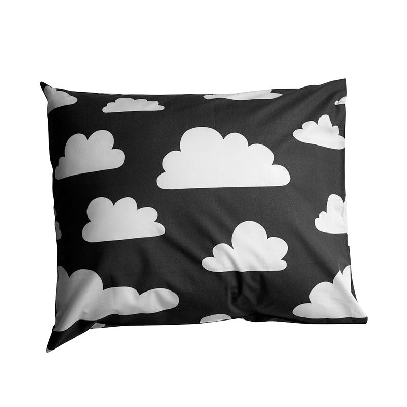 Moln Cloud Children's Pillow Case Black - Northlight Homestore