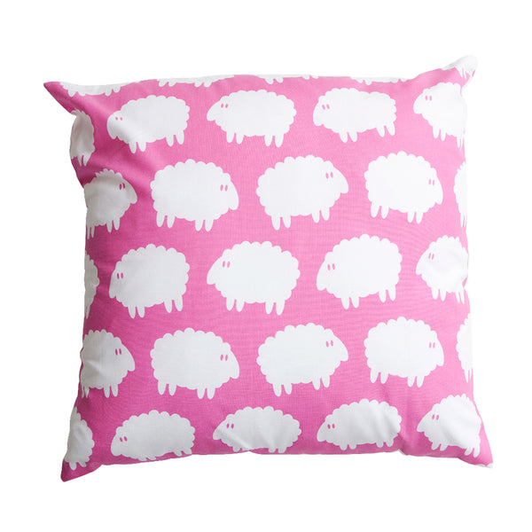 Lamb Square Cushion Cover Pink - Northlight Homestore
