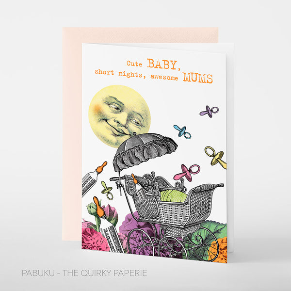 Cute Baby Mums Card - Northlight Homestore