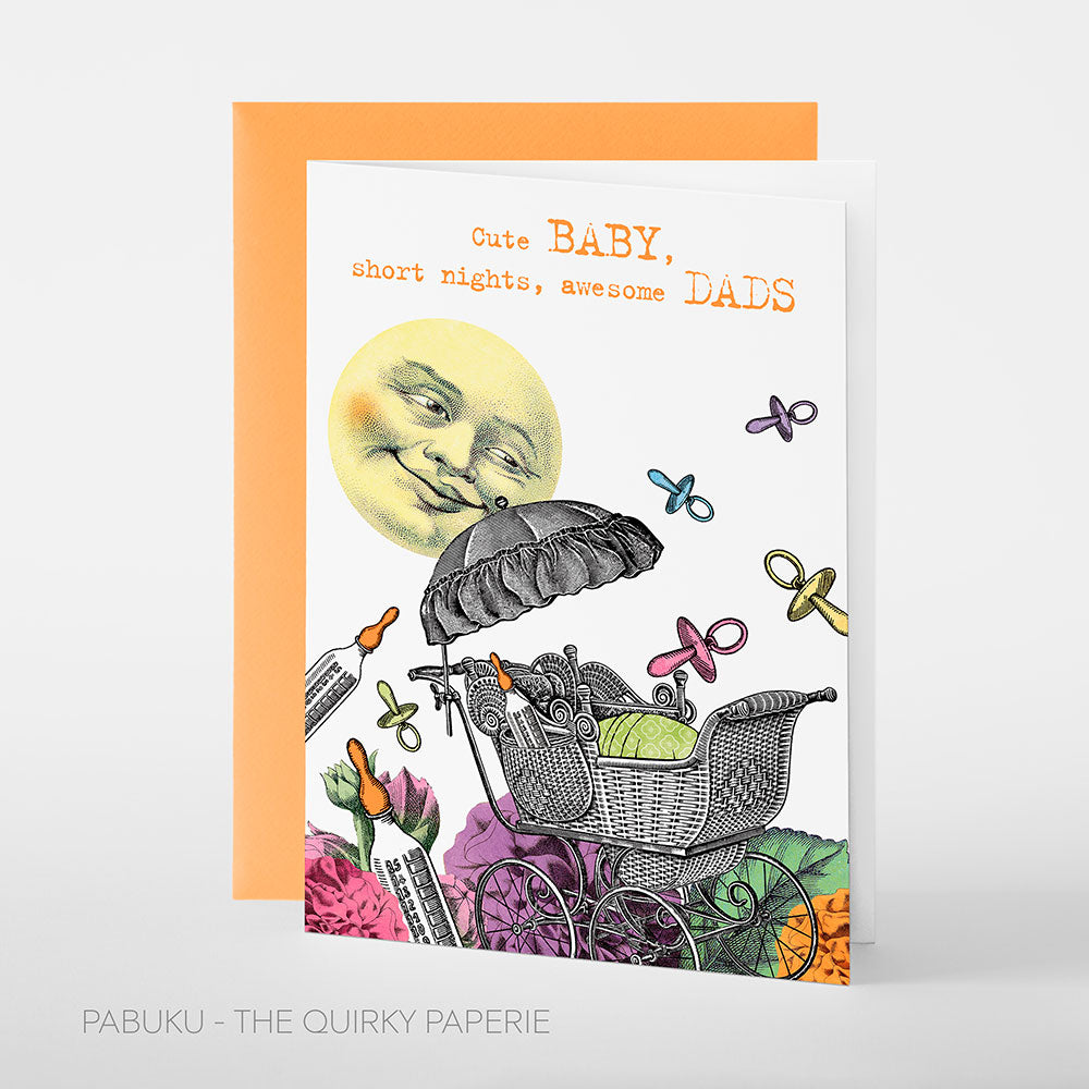 Cute Baby Dads Card - Northlight Homestore