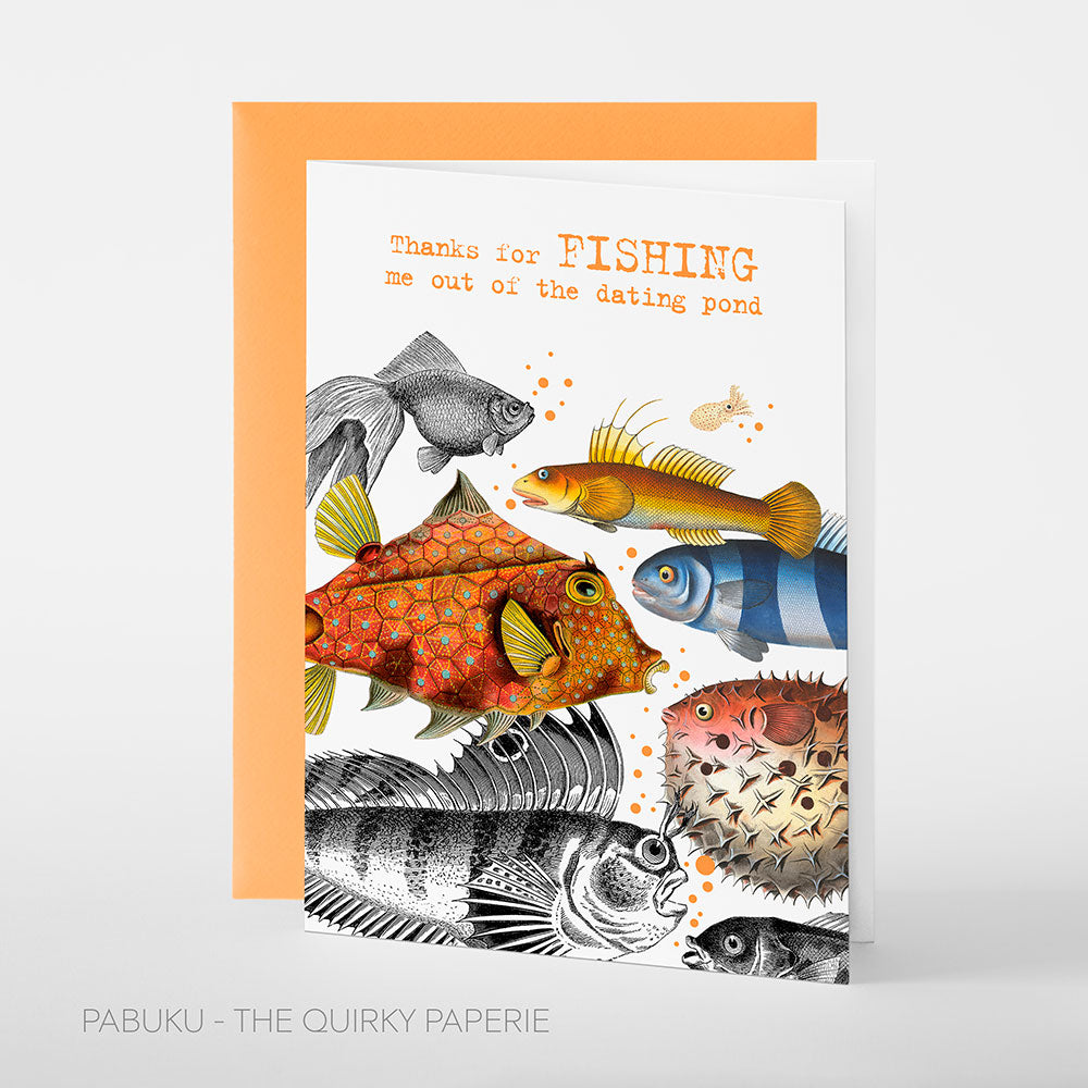 Fish Dating Pond Card - Northlight Homestore