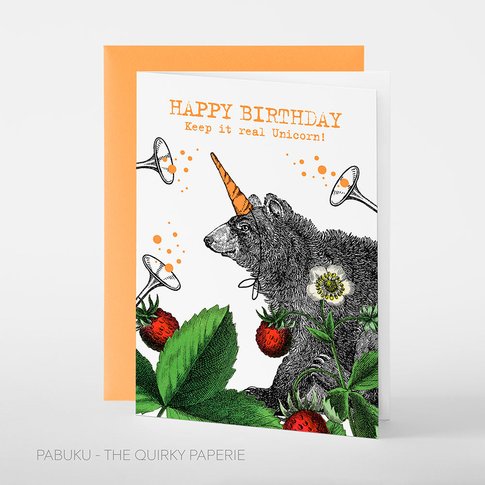 Birthday Unicorn Bear Card - Northlight Homestore