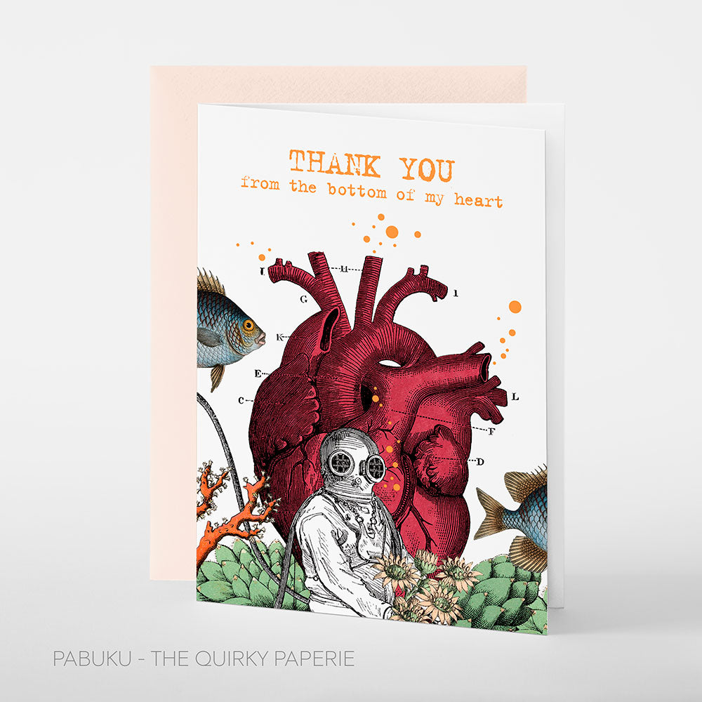 Thank You Heart Card - Northlight Homestore