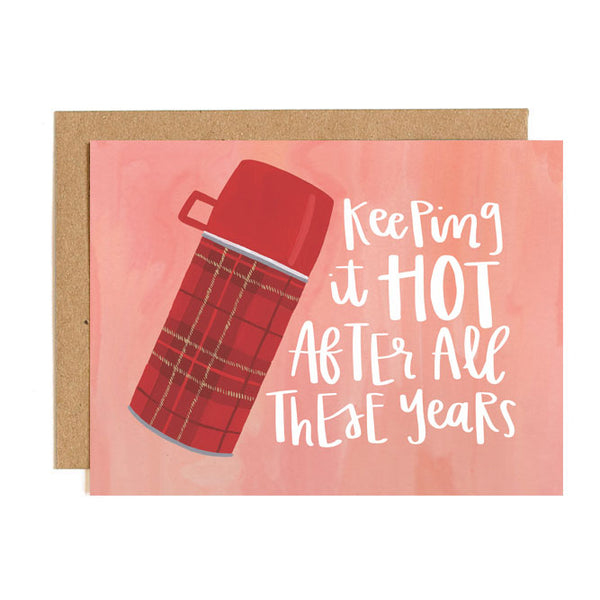 Keeping It Hot Thermos Card - Northlight Homestore