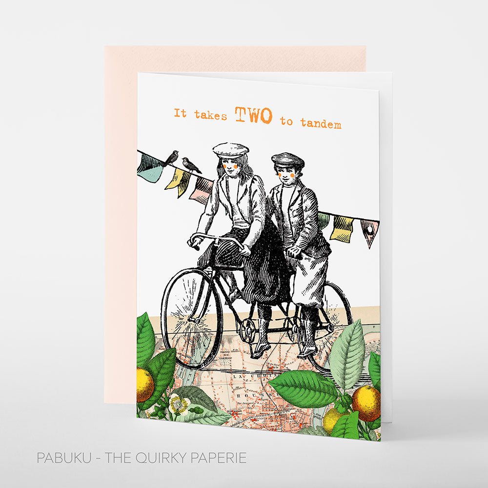 It Takes Two To Tandem Women Card - Northlight Homestore