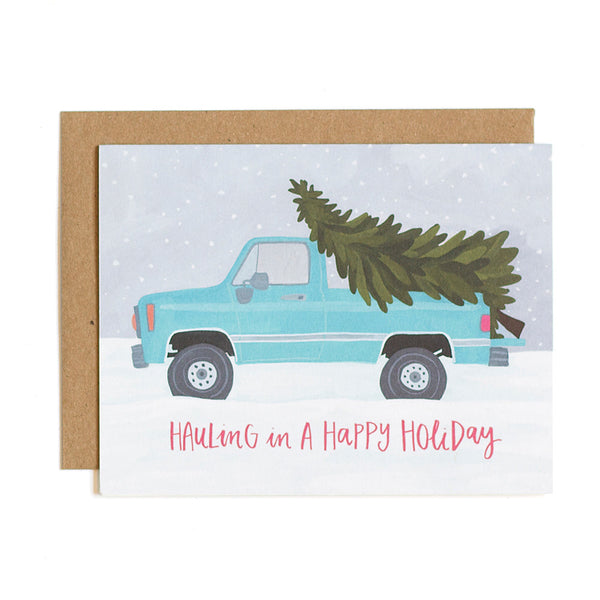Hauling Truck Holiday Card