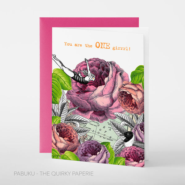 You Are The One Girl Card - Northlight Homestore