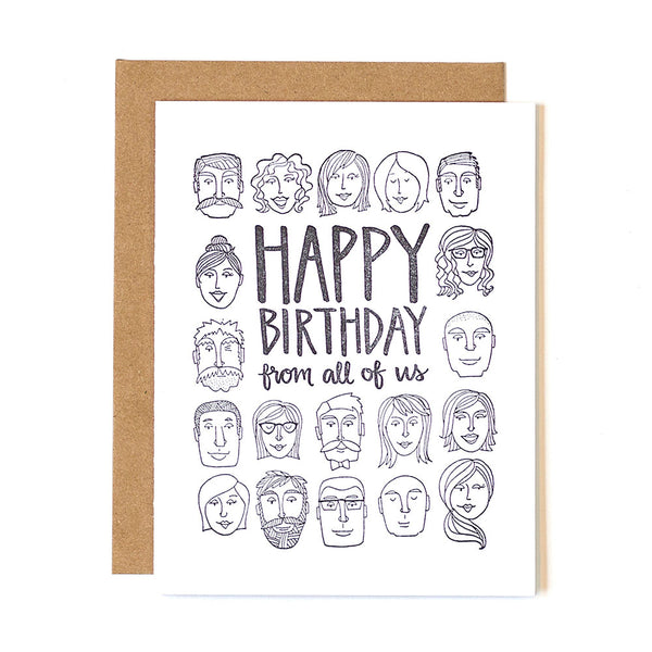 Birthday From All Letterpress Card - Northlight Homestore