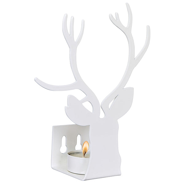 Deer White Wall Tealight Holder