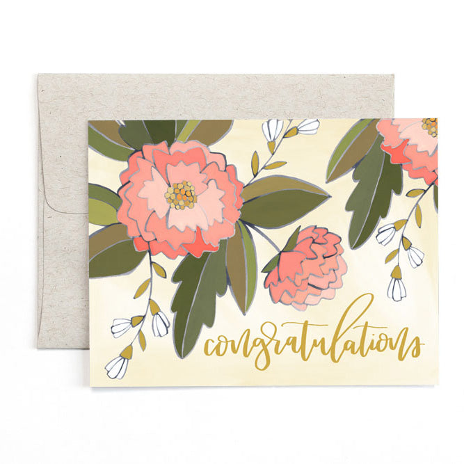 Congrats Peonies Card - Northlight Homestore