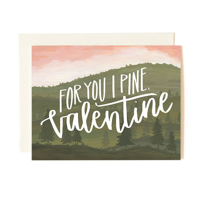 Pine Valentine Card - Northlight Homestore