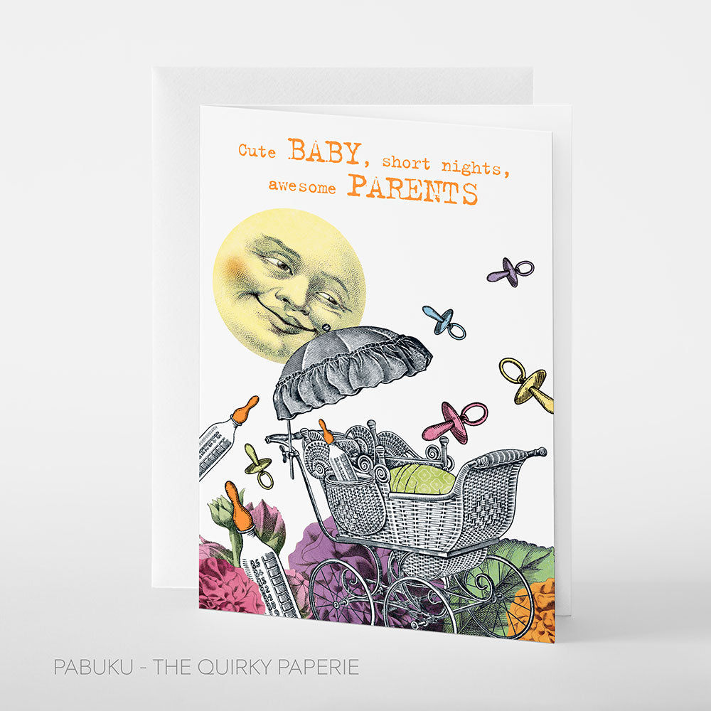 Cute Baby Parents Card - Northlight Homestore