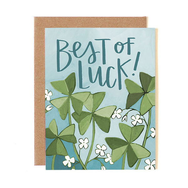 Best of Luck Clover Card - Northlight Homestore