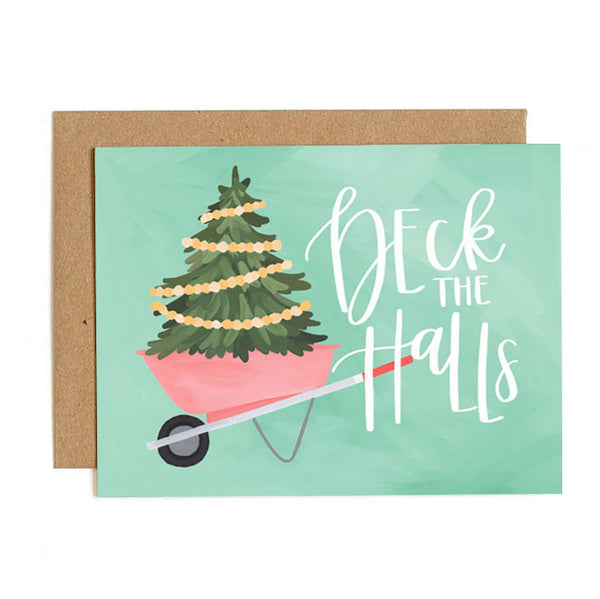 Wheelbarrow Tree Card