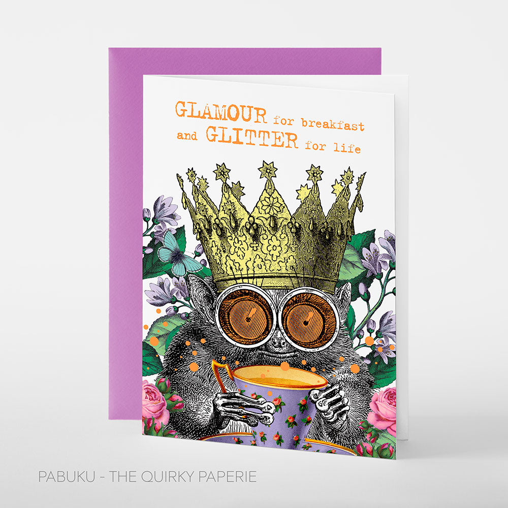 Glamour Breakfast Card - Northlight Homestore