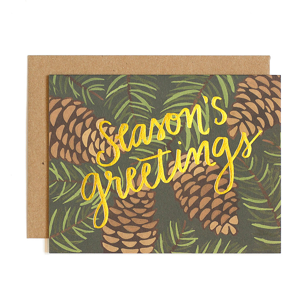 Pinecone Foil Card - Northlight Homestore