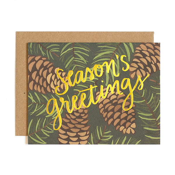 Pinecone Foil Card