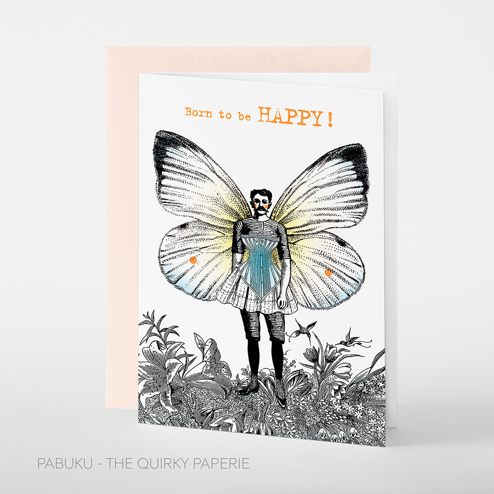 Born To Be Happy Card - Northlight Homestore