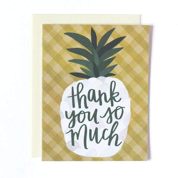 Pineapple Thank You Card - Northlight Homestore