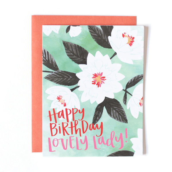Lovely Floral Birthday Card - Northlight Homestore