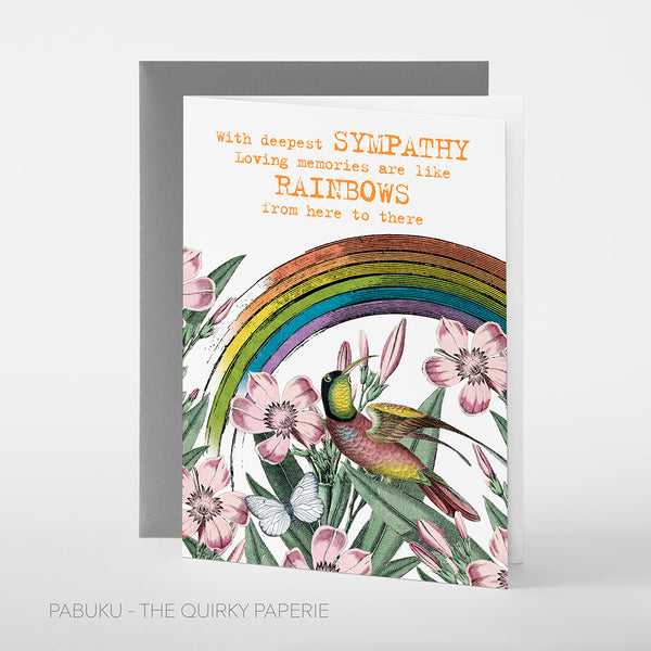 Sympathy Rainbows Card - Northlight Homestore