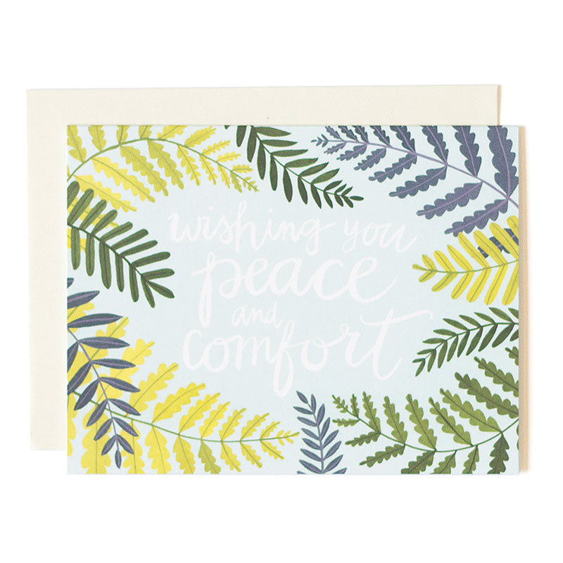 Wishing Peace Floral Card - Northlight Homestore