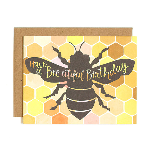 Bee-utiful Birthday Card - Northlight Homestore