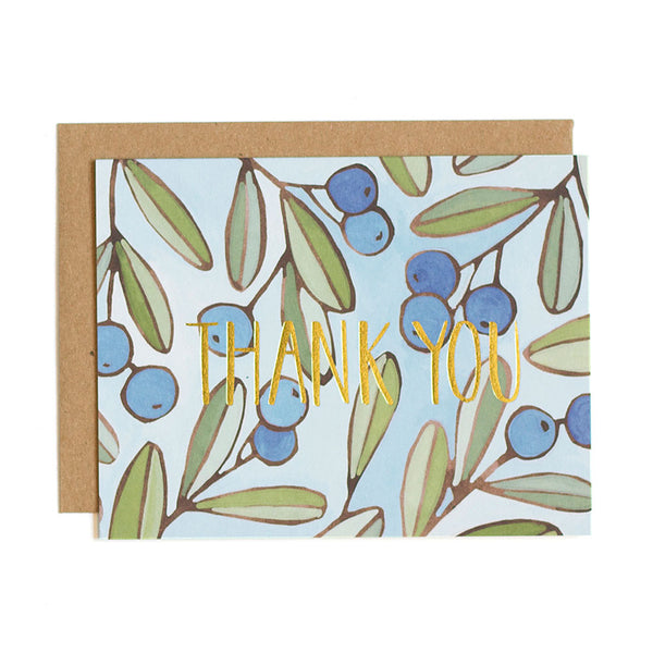 Berries Foil Thank You Card - Northlight Homestore