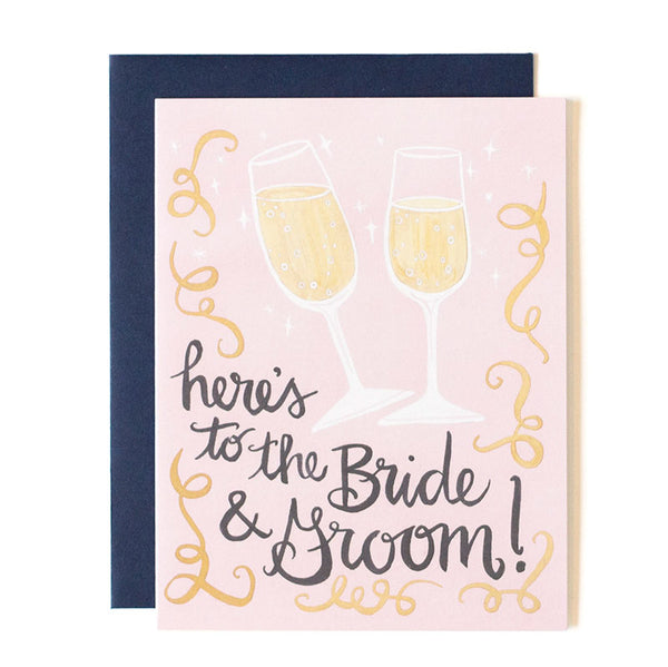 Here's to the Bride & Groom Card - Northlight Homestore