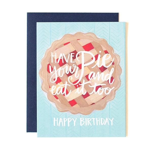 Birthday Pie Card - Northlight Homestore