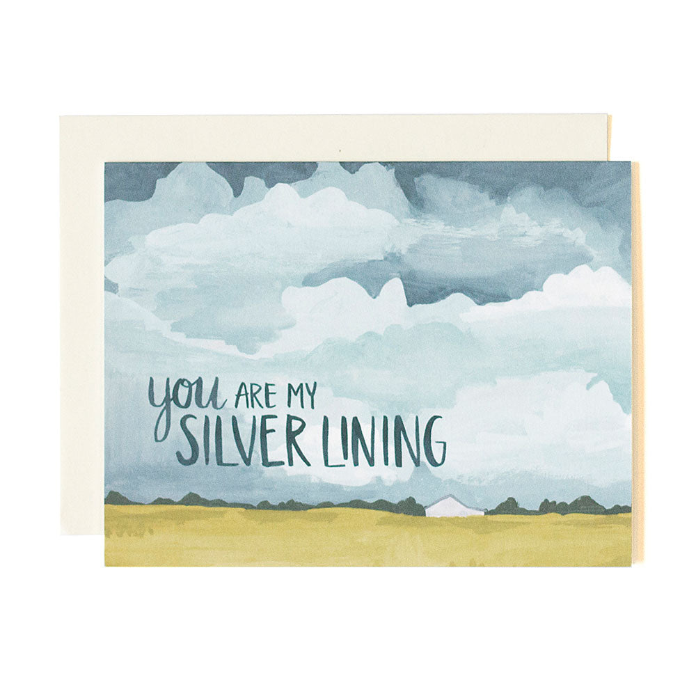Silver Lining Skies Card - Northlight Homestore