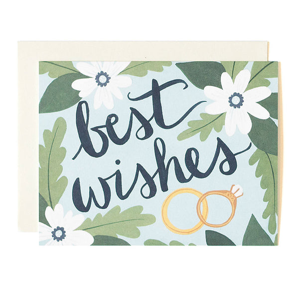 Best Wishes Blue Card - Northlight Homestore