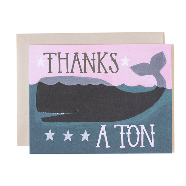 Thanks a Ton Whale Card - Northlight Homestore