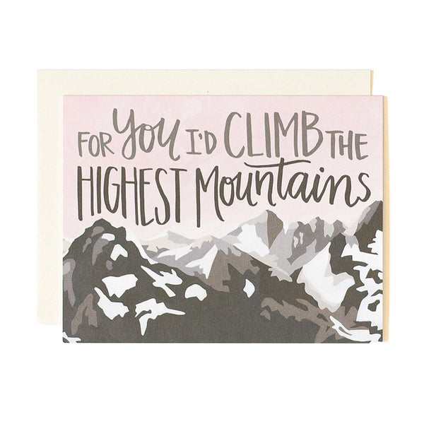 Mountains Love Card - Northlight Homestore