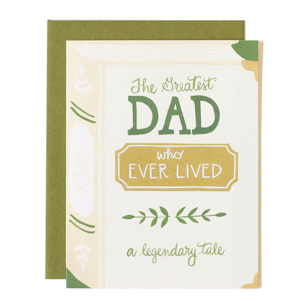 Greatest Dad Book Card - Northlight Homestore
