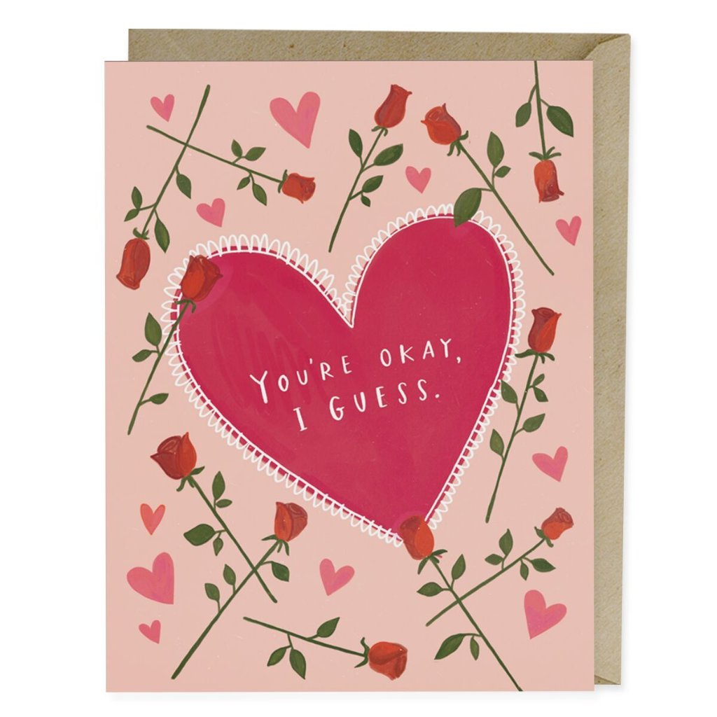 You're Okay I Guess Love Card - Northlight Homestore