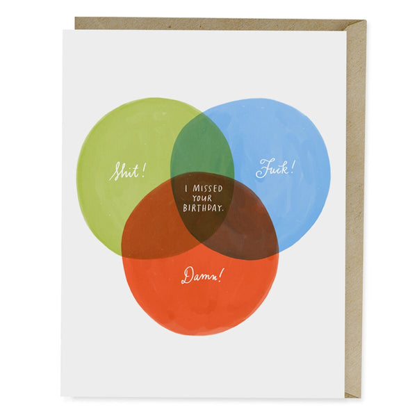 Venn Diagram Belated Birthday Card