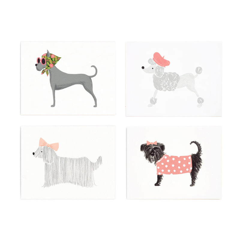 Assorted Girlie Dog Set - 8 Cards