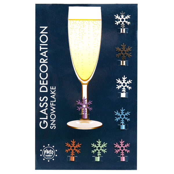 Snowflake Wine Glass Decoration
