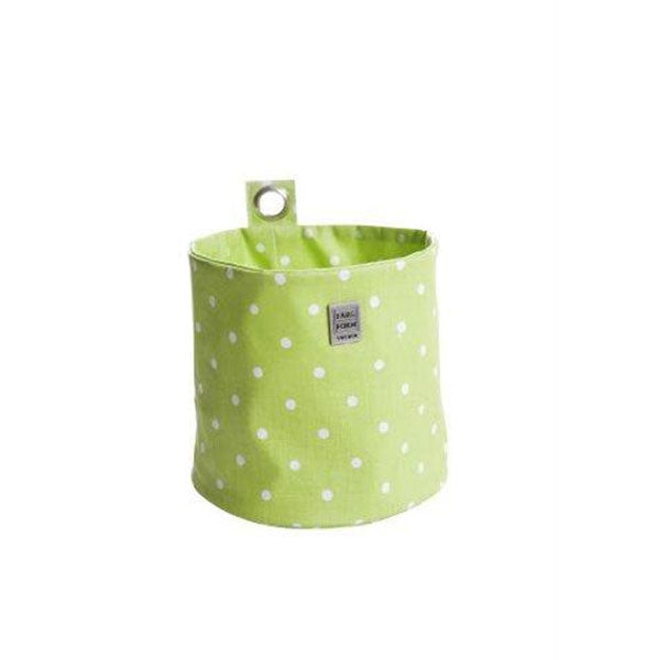 Round Hang Storage Ø15x15cm Cotton Prickig Green