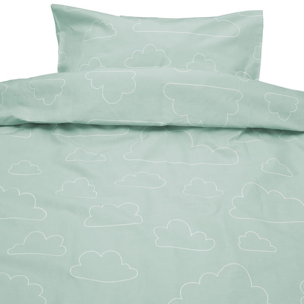 Moln Eco Cotton Cloud Green Single Bed Set 150cm x 210cm